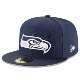 New Era Nfl Sideline 59Fifty Seasea Otc - Schirmmütze Linie Seattle Seahawks für Herren, Farbe Blau, Größe 7 7/8 -