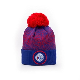 New Era Philadelphia 76ers NBA '17 Pom Beanie Mütze, red/blue/navy blue -