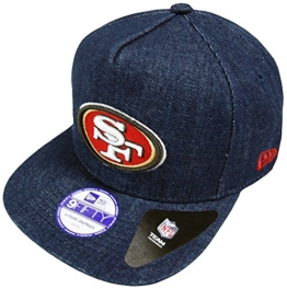 New Era San Francisco 49ers A-Frame NFL Denim Snapback Cap Youth Kappe 9fifty -