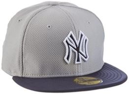 New Era Schirmmütze Yankee Diamond Reverse 59-Fifty, Grau, 7.25, 80102210 -