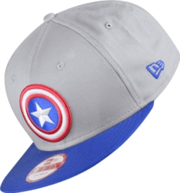new era TEAM HERO SNAPBACK CAPTAIN AMERICA, Blue & Grey, Medium / Large -