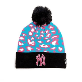 New Era Team Leopard Bommelmütze - NY YANKEES - Multicolor, Size:ONE SIZE -