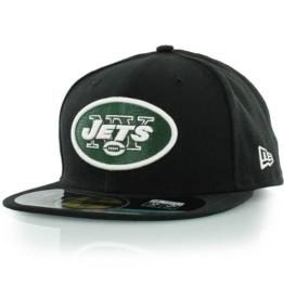 NFL Onfield Jets Cap by NEW ERA (60 cm - schwarz) -