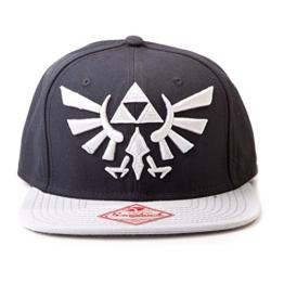 Nintendo Mütze - Zelda schwarz mit Grau-Logo -