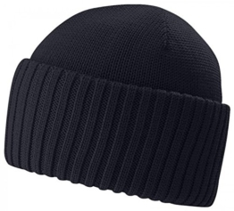NORTHPORT BLAU Beanie Umschlagmütze Strickmütze aus Wolle von Stetson - One Size -