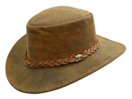 Nullarbor Lederhut aus tollem Vintage-Leder -