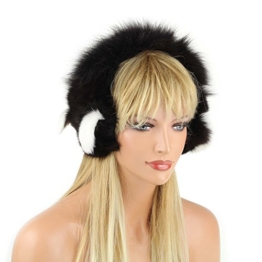 Ohrenschützer Pelzband Stirnband Echtfell Ohrenwärmer Ohrwärmer EarMuffs Fuchspelz Fox Fuchs Mütze -