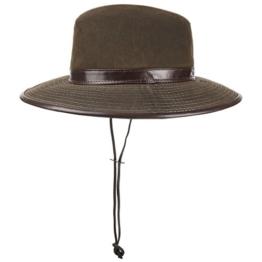 Oiled Cotton Safarihut Outdoorhut Baumwollhut mit Sonnenschutz Sonnenhut Regenhut Hut mit UV-Schutz Outdoorhut Sonnenhut (XL/60-61 - braun) -