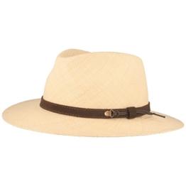 ORGINAL Panama-Hut | Stroh-Hut | Sommer-Hut aus Ecuador - mit Lederband - Handgeflochten, UV-Schutz, Bruchschutz - Natur - L -