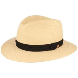 ORGINAL Panama-Hut | Stroh-Hut | Sommer-Hut aus Ecuador – Traditionell Handgeflochten, gefüttertes Schweißband, Bruchschutz -