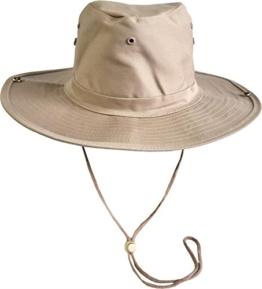 Original Australian Outdoor Buschhut Farbe Khaki Größe 57 -