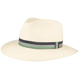 ORIGINAL Golf-Panama-Hut | Sport Stroh-Hut | Sommer-Hut aus Ecuador –Handgeflochten, UV-Schutz 30, Stretch-Schweißband, Wasserabweisend, Bruchschutz -