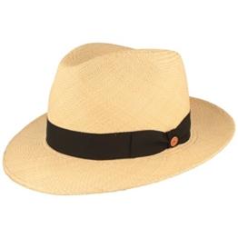 ORIGINAL Panama-Hut | Stroh-Hut | Sommer-Hut aus Ecuador - Traditionell Handgeflochten, UV-Schutz 40, Wasserabweisend, Bruchschutz - Bogart -