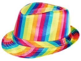 Paillettenhut Pailettenhut Pailletten Hut Disco-Hut Clubstyle Partyhut Trilby Hut Blink Fedora Bogart Glitzerhut Glitter von Alsino, Farbe wählen:TH-66 bunt -