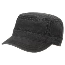 Parker Cotton Army Cap Stetson Militarycap Urbancap (XL/60-61 - schwarz) -
