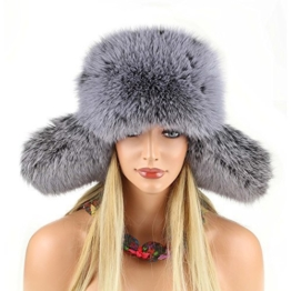 Pelzmütze Fellmütze Fuchs Mütze Fliegermütze Wintermütze Skimütze Kappe Fox Uschanka Polarmütze Russische Mütze Echt Fell -