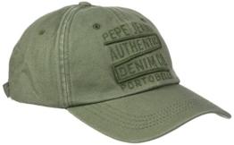 Pepe Jeans Herren Baseball Borneo Cap, Grün (Combat Green), One size (Herstellergröße: 000) -