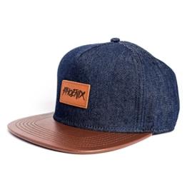 Phoenix Denim Beast Snapback Cap in Jeans Blau Unisex Baseball -