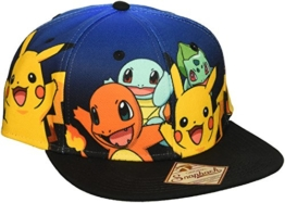 Pokemon Smiling Group Pose Blue Gradient Snapback Hat -