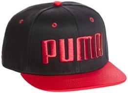 Puma ESS Flatbrim Cap - puma black-barbados cherry, Größe:ADULT -