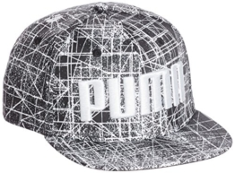 Puma ESS Flatbrim Cap - puma white-aop, Größe:ADULT -