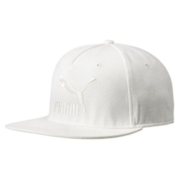 PUMA Flat Brim Strapback Cap Basecap Baseballcap Kappe Käppi Sportcap Flatbrim Cap Basecap (One Size - cremeweiß) -