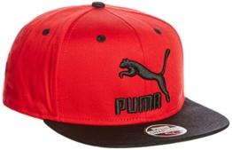 Puma LS ColourBlock SnapBack - barbados cherry-puma black, Größe:ADULT -