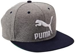 Puma LS ColourBlock SnapBack, Größe:ADULT, Farbe:Medium Gray Heather-peacoat -