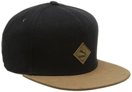 PUMA Mütze Flatbrim Cap, Black, One size, 834008 01 -