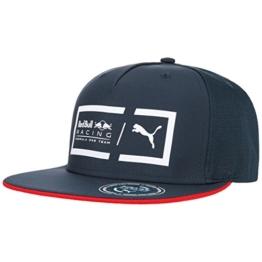 PUMA Red Bull Racing Flatbrim Cap Flat Brim Basecap Baseballcap Kappe Käppi Cap Baseballcap (One Size - dunkelblau) -