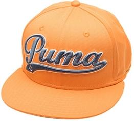 Puma Script Cool Cell Snapback Cap - vibrant orange-folkstone, Größe #:OSFA -