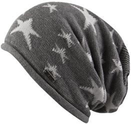 Ravenna Oversize Beanie Long Slouch Indoormütze Baumwollmütze Sommermütze Chillouts Damenmütze Long Beanie (One Size - grau) -