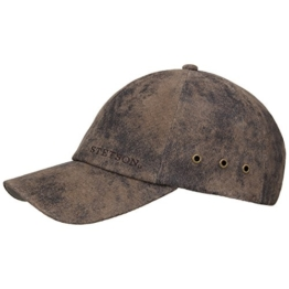 Rawlins Pigskin Cap Basecap Kappe Baseballcap Stetson Sommercap Basecap (One Size - dunkelbraun) -