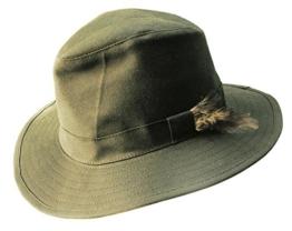 Regen Wachs- Hut, Anglerhut in oliv- grün aus geölter Baumwolle, wasserfest und atmungsaktiv von Kakadu Australia -