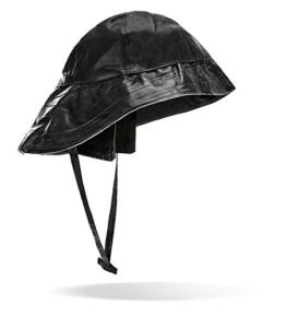 Regenhut Anglerhut mit extra breiter Krempe schwarz M -