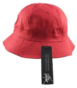 Revive Online Herren Fischerhut Rot Rot One Size -
