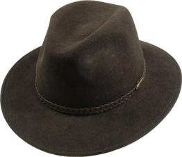 rollbarer Hut in 3 Farben, Kopfgröße:56;Farben:braun -