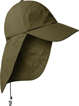 Safari Cap mit extra langem Nackenschutz Farbe Olive -