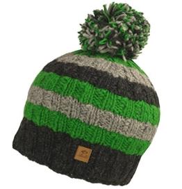 Sascha Pudelmütze Chillouts Wintermütze Skimütze (One Size - grün) -