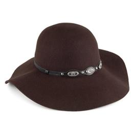 Scala Filz-Schlapphut mit Kunstleder-Hutband - Schokolade - One Size -