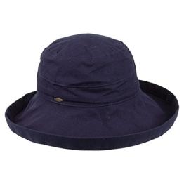 Scala Packbarer Sonnenhut Lanikai Damen - Marineblau - One Size -