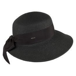 Scala Stroh Sonnenhut mit Ripsband Hutband - Schwarz - One Size -