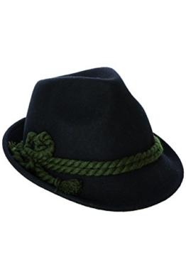 Schicker und Stillvoller Trachtenhut mit breiter Kordel. Fesch für die Dame zum Dirndl und zünftig für den Herrn zur Lederhose, Gr. 55-60, in den 4 aktuellen Trendfarben -