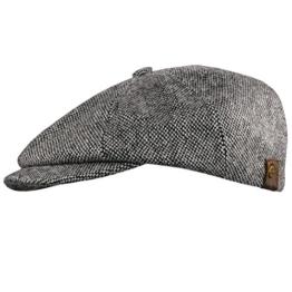 Schiebermütze 8 teilig schwarz grau Tweed Lakota Balke Größe S 54 cm- 55 cm -