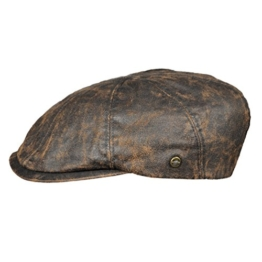 Schiebermütze Sportmütze Lakota 8-Panal Flatcap braun Herrenmütze (61) -