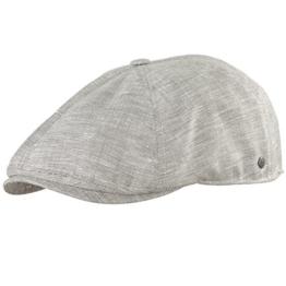 Schirmmütze Sommermütze Schiebermütze Herrenmütze UV- Schutz Wegener (59 cm, Beige hell meliert) -