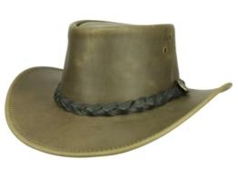 Scippis Boulder Outback Lederhut - brown S/54-55 -