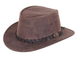 Scippis Kangoroo Urbaner Lederhut Traveller aus Känguruleder - brown M/56-57 -