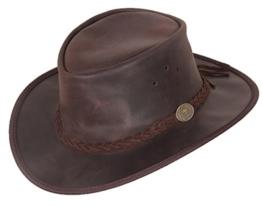Scippis Leder Westernhut Cowboyhut »Maverick« Braun (L) -