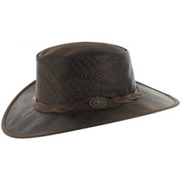 Scippis Wild Roo Lederhut Classic Australienhut Lederhüte (S/54-55 - braun) -